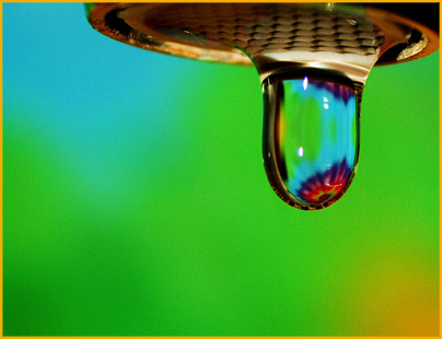 Free Happy Rainbow Water Droplet